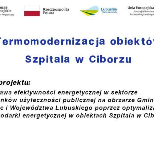 Termomodernizacja obiektów Szpitala w Ciborzu