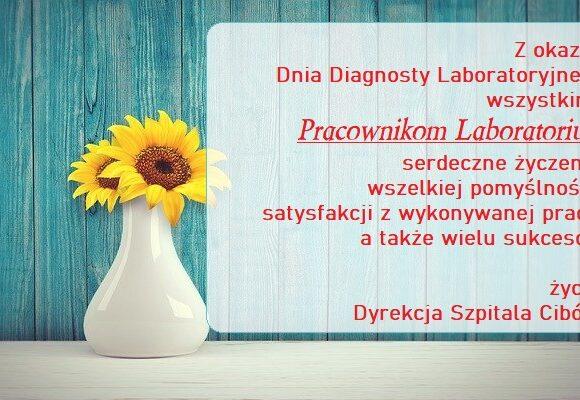 Najlepsze życzenia z okazji Dnia Diagnosty Laboratoryjnego